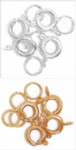 CF01\610 Bolt Clasp and Ring: Plated: 5 Packs of 4 - Full Colour Range